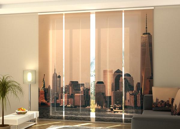 Puolipimentävä paneeliverho Manhattan skyline 240x240 cm