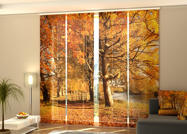 Puolipimentävä paneeliverho November park 240x240 cm