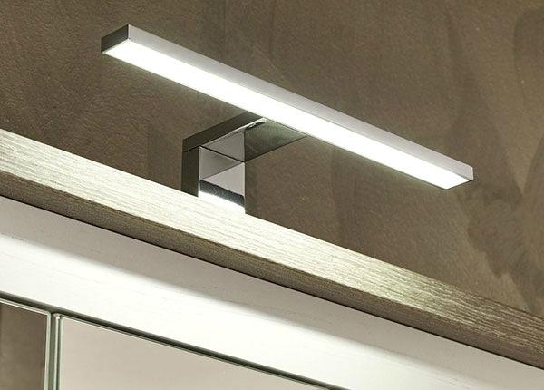 LED-valaistus 30 cm, kromi