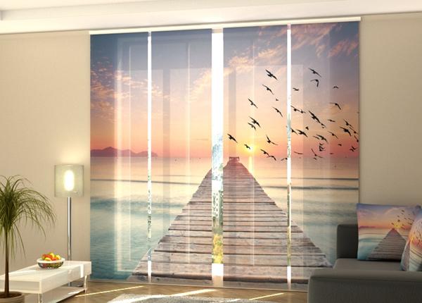 Puolipimentävä paneeliverho Sunrise on the sea 2 240x240 cm