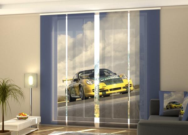 Pimentävä paneeliverho Yellow supercar 240x240 cm ED-218280