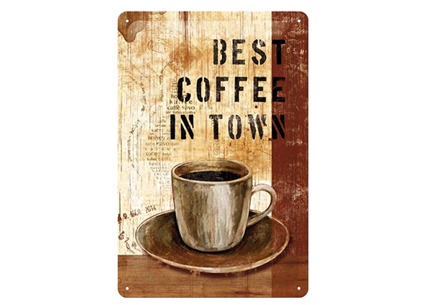 Retro metallposter Best coffee in town 20x30 cm SG-218318