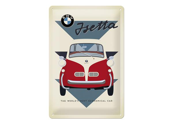 Металлический постер в ретро-стиле BMW Isetta 20x30 см SG-218319