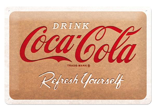 Retro metallposter Coca Cola - Cardboard Logo 20x30cm SG-218321