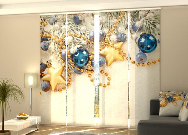Puolipimentävä paneeliverho Xmas Decorations on the Snow 240x240 cm