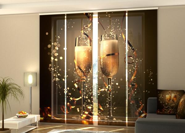 Puolipimentävä paneeliverho Christmas Champagne 240x240 cm