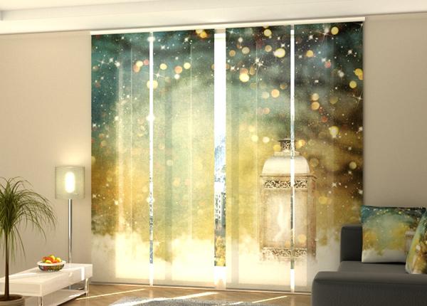 Puolipimentävä paneeliverho Christmas Lantern 240x240 cm
