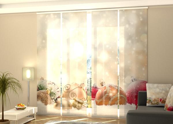 Puolipimentävä paneeliverho Christmas Lights and Snow 240x240 cm40 cm