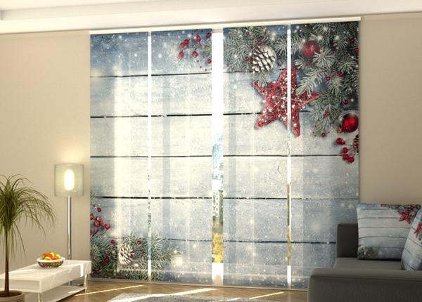 Puolipimentävä paneeliverho Christmas Red Star 3 240x240 cm
