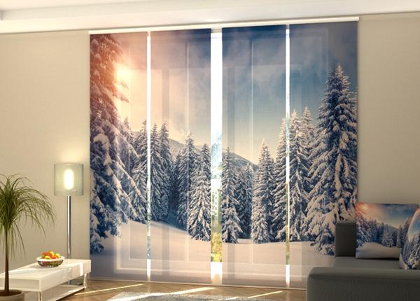 Puolipimentävä paneeliverho Christmas Sunset 240x240 cm