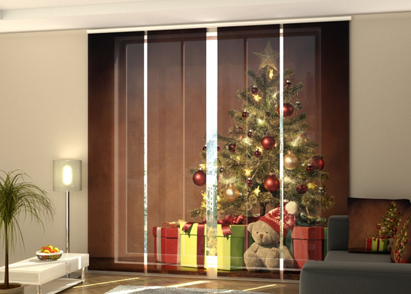 Puolipimentävä paneeliverho Christmas Surprise 2 240x240 cm