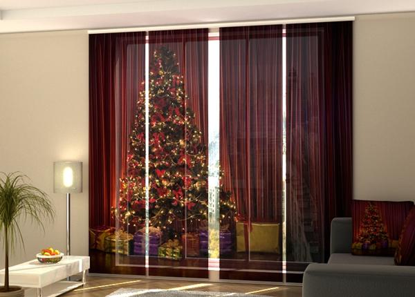 Puolipimentävä paneeliverho Christmas Tree 1 240x240 cm