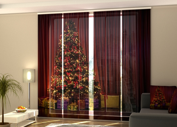 Pimentävä paneeliverhoChristmas Tree 1 240x240 cm ED-218392