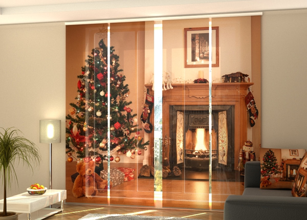 Pimentävä paneeliverho Fireplace 240x240 cm ED-218394