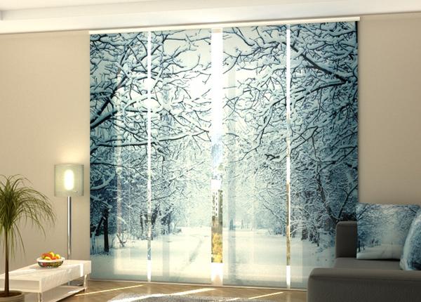 Poolpimendav paneelkardin Snowy Evening 240x240 cm