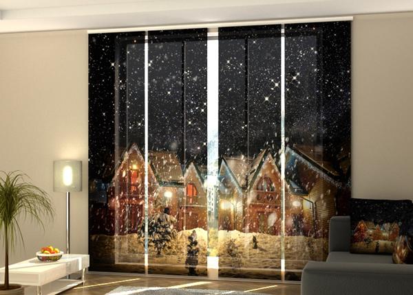 Puolipimentävä paneeliverho Snowy Night 240x240 cm