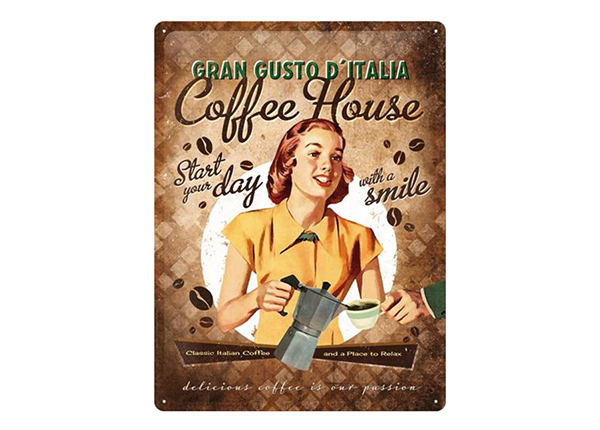 Retro metallposter Coffe House 30x40 cm SG-218435