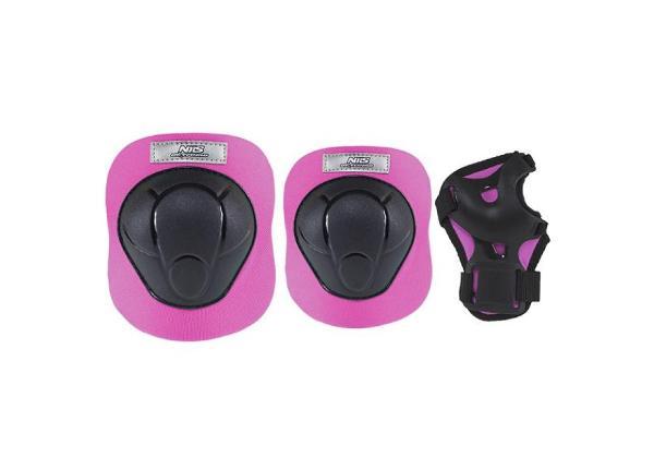 Täiskasvanute kaitsmete komplekt Nils Extreme must-roosa H210 S