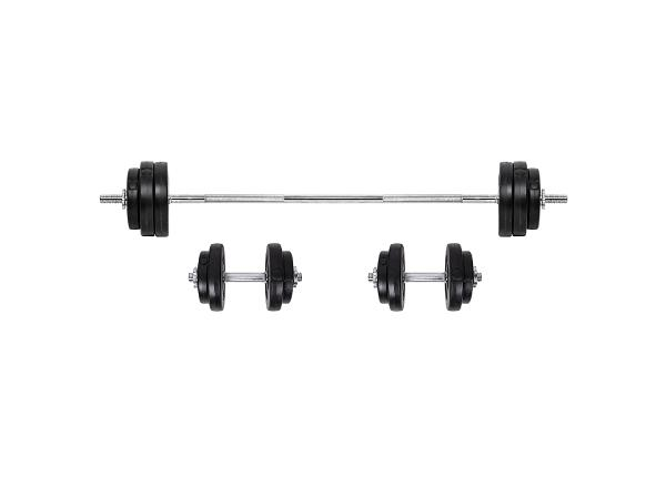Hantlite ja kangi komplekt BS08 3-50kg inSPORTline