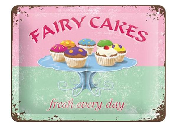 Retro metallposter Fairy Cakes 15x20 cm SG-220206