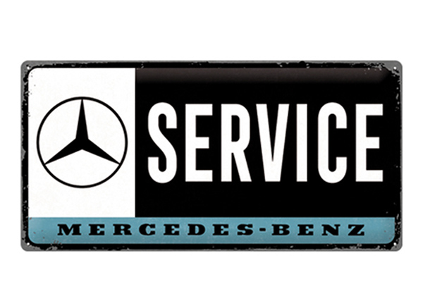Retro metallijuliste Mercedes-Benz - Service 25x50 cm SG-220216