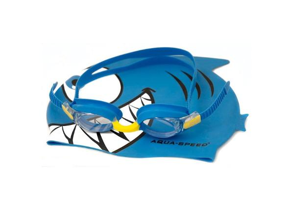 Laste ujumismüts koos prillidega Aqua-Speed Set Fish Junior 1148
