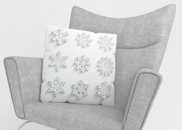 Декоративная наволочка Snowflakes 40x40 см