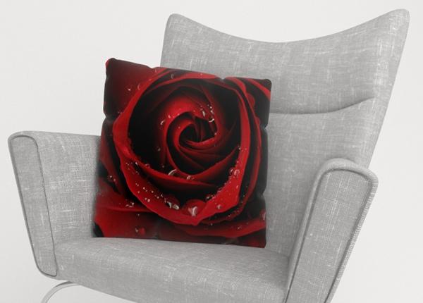 Koristetyynyliina Red Rose