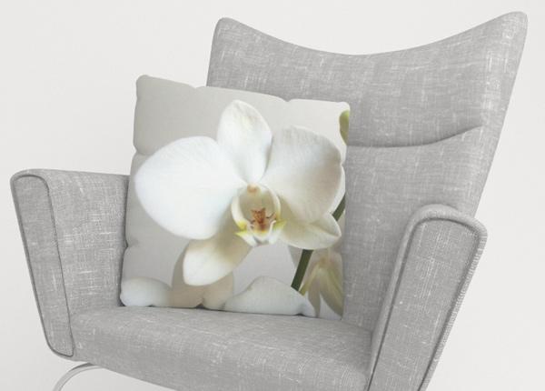 Koristetyynyliina Riga Orchid