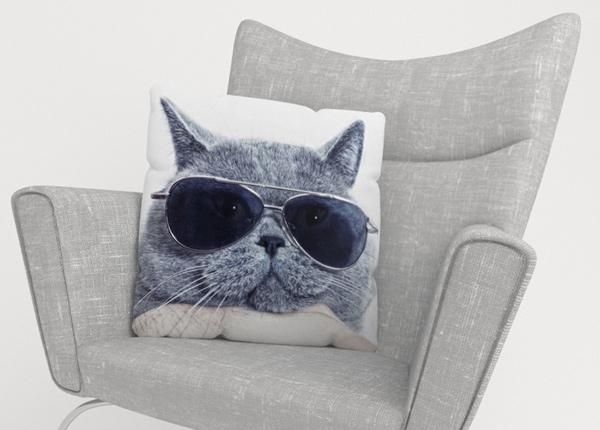 Koristetyynyliina Stylish Cat