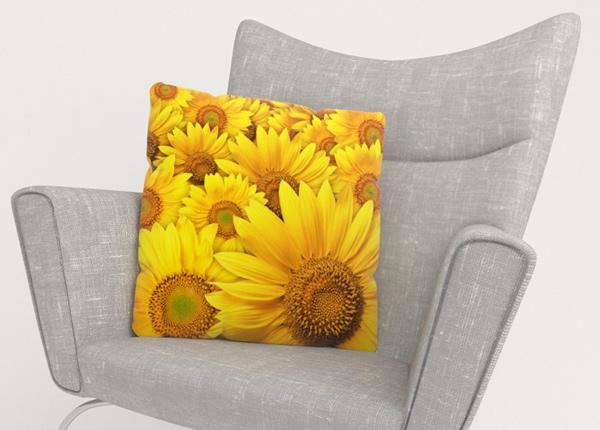 Koristetyynyliina Sunflowers