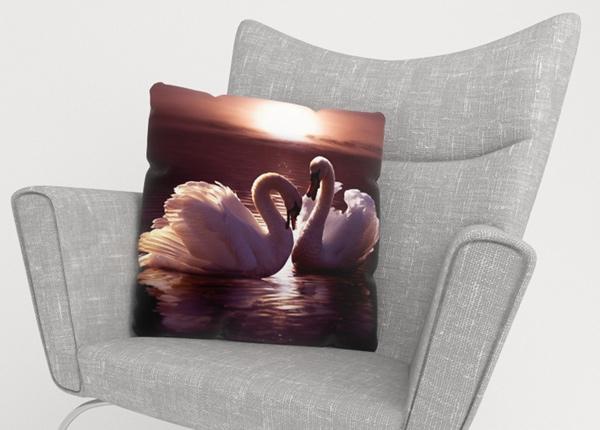 Декоративная наволочка Swans 40x40 см