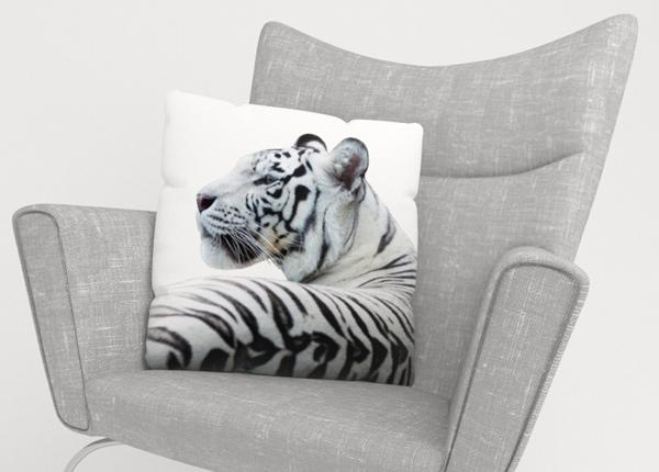 Koristetyynyliina White Tiger