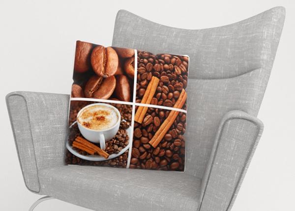Koristetyynyliina Coffee 3