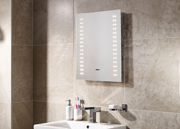 Peili LED-valaistuksella Apollo Bluetooth 60x50 cm