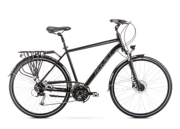 Linnajalgratas meestele 23 XL WAGANT 6 must-hõbe