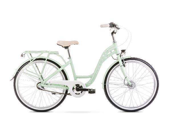 """Lasten kaupunkipyörä 13 S PANDA 24"""" 2.0 vihreä"""