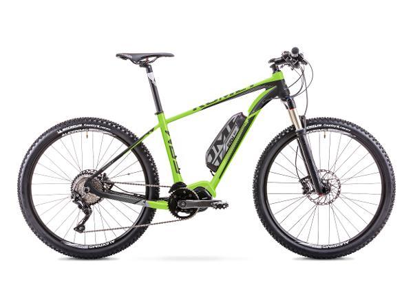 Elektriline maastikujalgratas 18 M ROMET ERM 201 must-roheline