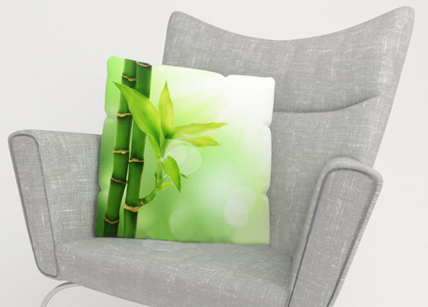 Dekoratiivpadjapüür Green Bamboo 40x40 cm