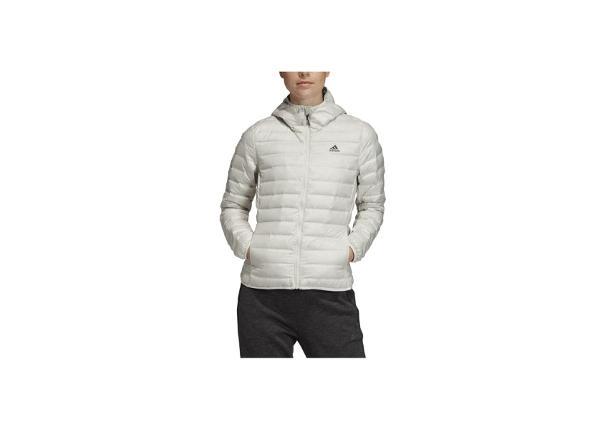Naisten untuvatakki adidas Varilite Hooded Down Jacket W DZ1490