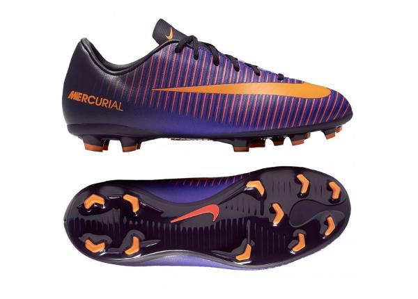 Lasten jalkapallokengät Nike Mercurial VAPOR XI FG Jr 831945-585