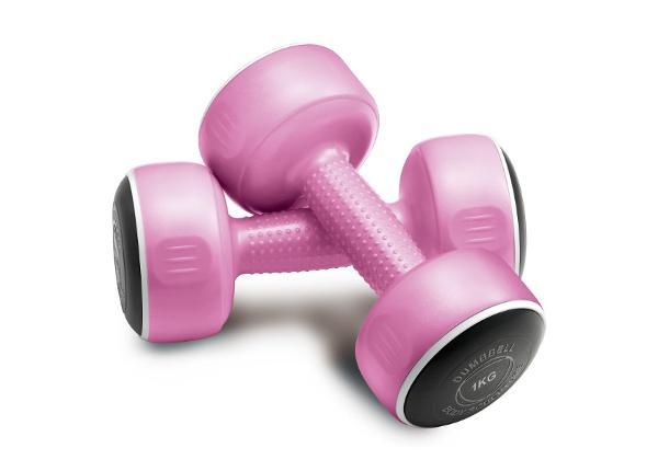 Käsipainot SMART 2x1 kg BW 108 roosa