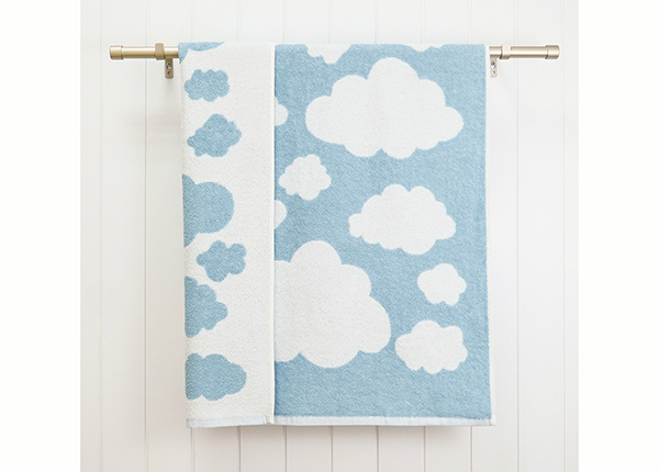 Laste froteerätik Clouds 70x120 cm, sinine