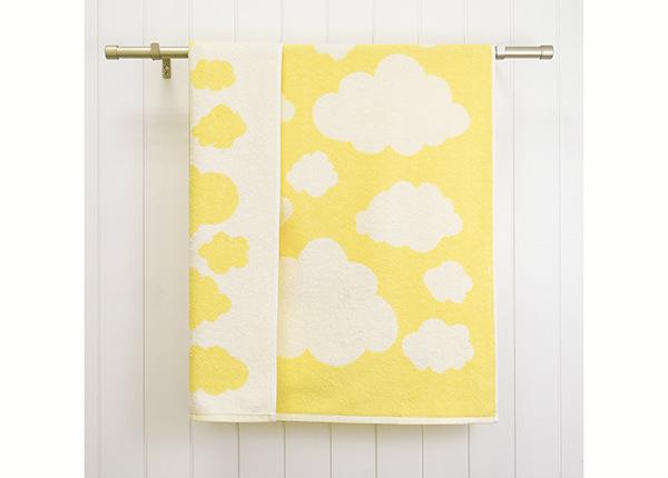 Laste froteerätik Clouds 70x120 cm, kollane