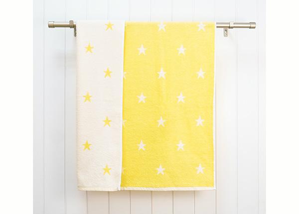 Laste froteerätik Stars 70x120 cm, kollane