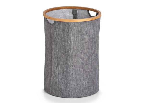 Pyykkikori, pyöreä, harmaa