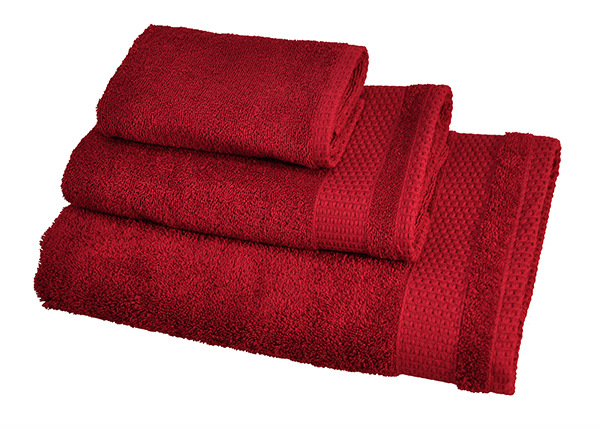 Комплект махровых полотенец Madison, красный