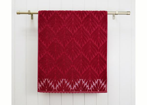 Махровое полотенце Flora, красный