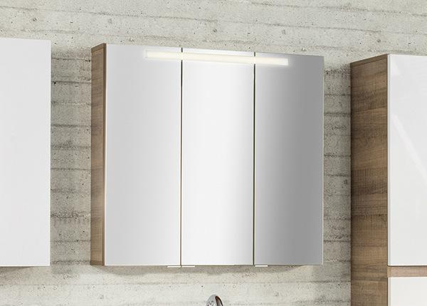 Зеркальный шкаф со светильником Piuro