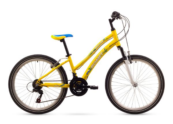 Linnajalgratas tüdrukutele 13 S ROMET BASIA 24 kollane